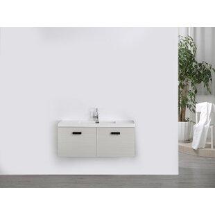 47 Wall-Mounted Single Bathroom Vanity Set