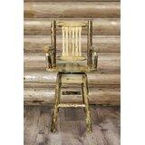 Tustin Swivel Solid Wood Bar & Counter Stool by Loon Peak®