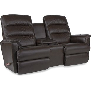 Tripoli Leather Manual Reclining Loveseat by La-Z-Boy