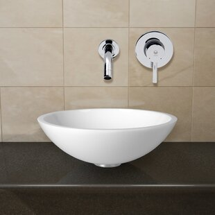 Phoenix Glass Circular Vessel Bathroom Sink with Faucet VIGO
