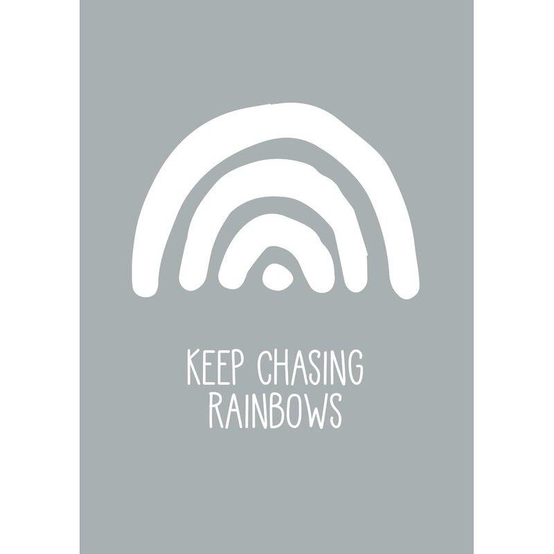 Keep Chasing Rainbows Nursery Print
