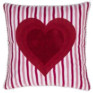 Queen of Heart Cotton Throw Pillow