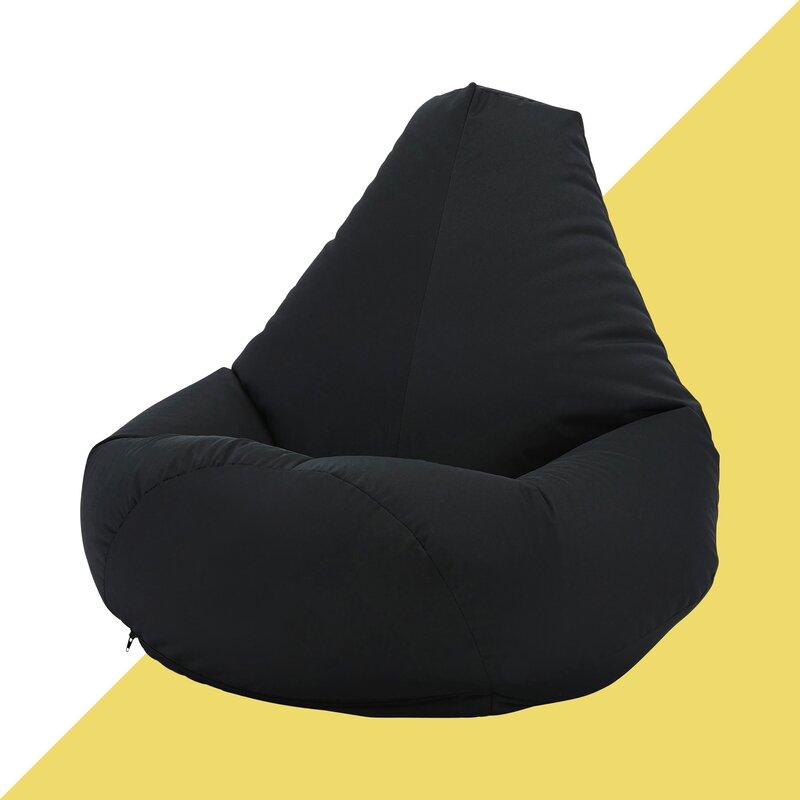 Beanbag Seater Crushed Velvet Gaming Chair Recliner Sofa Bean Bag Kids Adults UK