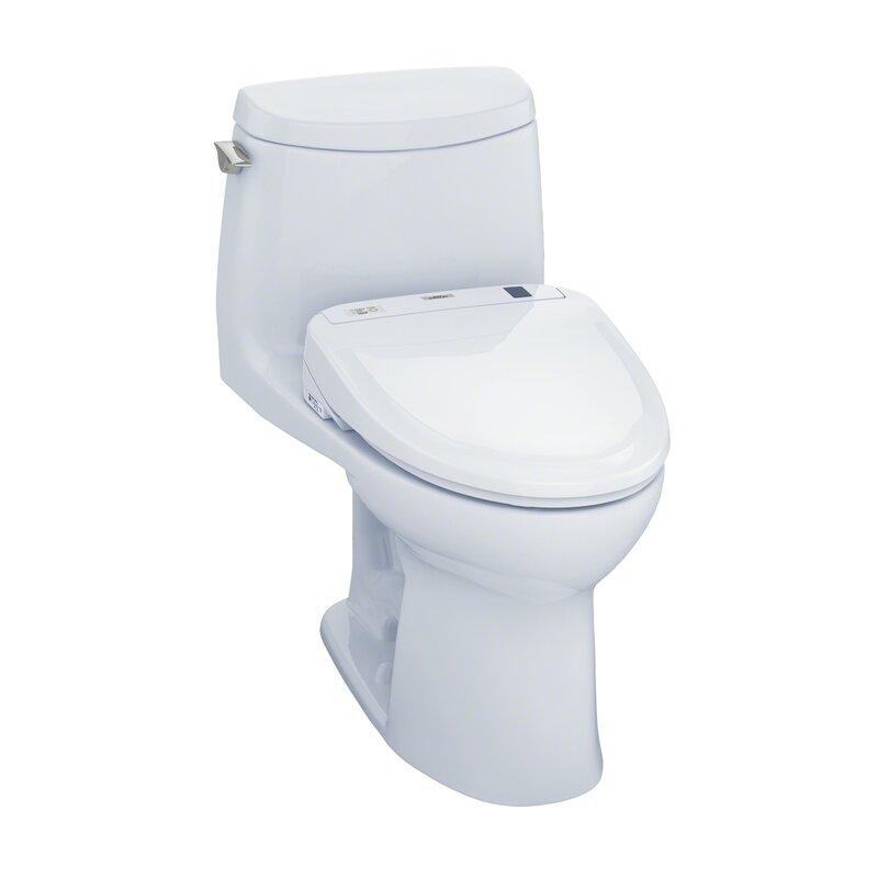 Toto Ultramax 1 0 Gpf Elongated One Piece Toilet With S350e Electronic Bidet Seat Wayfair