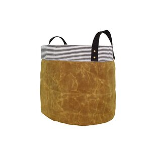Bargain Waxed Storage Fabric Bin By CB Station