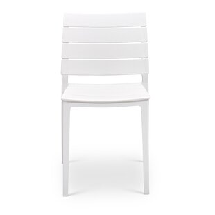 Didomenico Modern Stacking Patio Dining Chair (Set of 2)