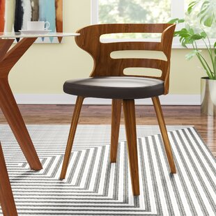 Baehr Mid-Century Modern Slat Back Upholstered Dining Chair