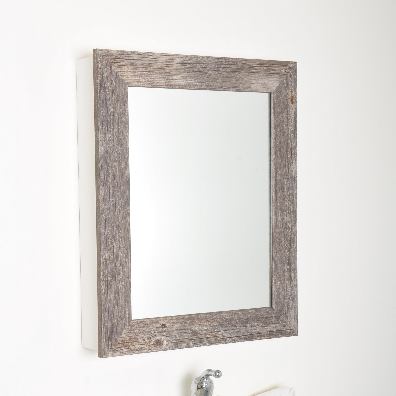 Stunning Rustic Wood Medicine Cabinet With Mirror Idea