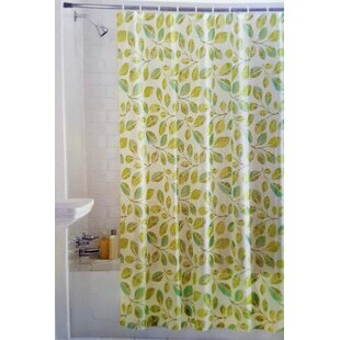 Laurel Tropical Leaves Vinyl Single Shower Curtain