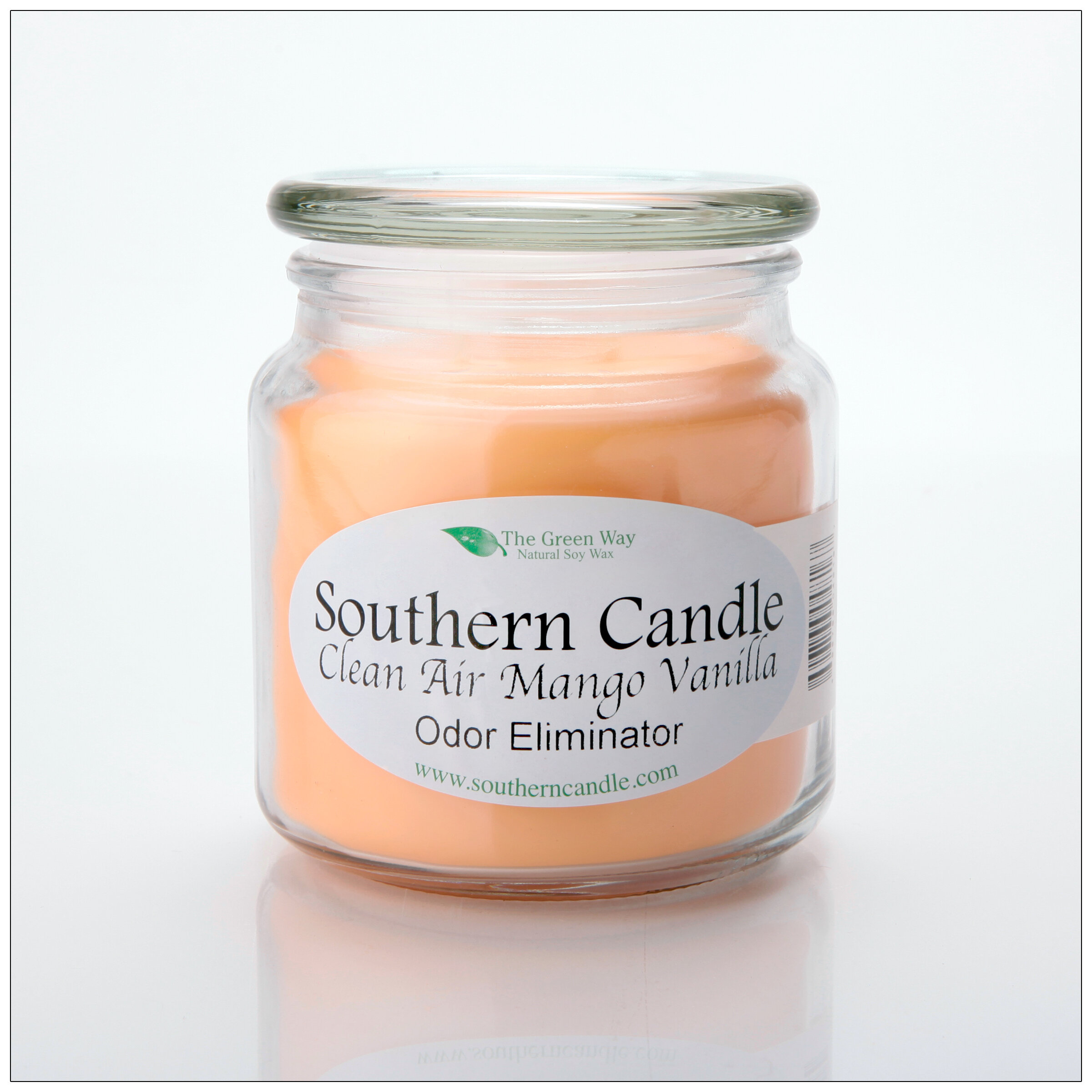 Southerncandleclassics Clean Air Mango Scented Jar Candle