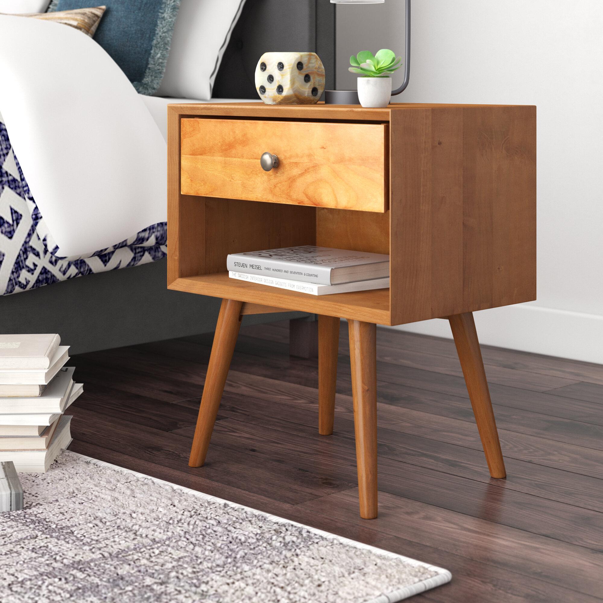 Brayden Studio Gertz 1 Drawer Bedside Table Reviews Wayfair Co Uk