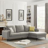 Pettitt 91.8 Wide Right Hand Facing Sofa & Chaise by Ivy Bronx