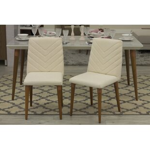 Lemington Upholstered Dining Chair (Set Of 2) by George Oliver Spacial Price