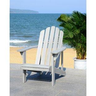 Savings Burgess Solid Wood Adirondack Chair Price Check
