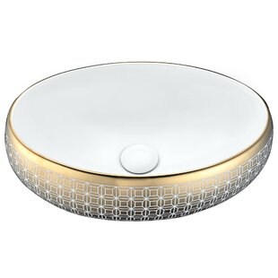 Best Price Sona Vitreous China Oval Vessel Bathroom Sink By ANZZI