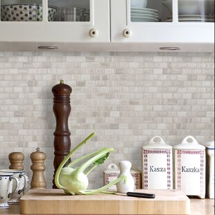 Smart Tiles Peel and Stick Backsplash and Wall Tile Minimo Nero Pack of 4
