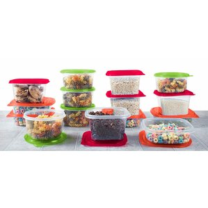 Plastic Meal Prep 15 Container Food Storage Set
