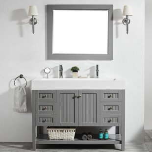 Compare prices Harward 47 Single Bathroom Vanity Set with Mirror By Highland Dunes