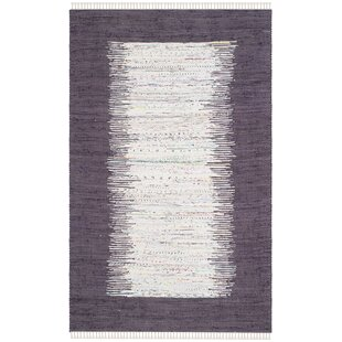 Online Reviews Ona Hand-Woven Cotton Purple/White Area Rug ByBeachcrest Home