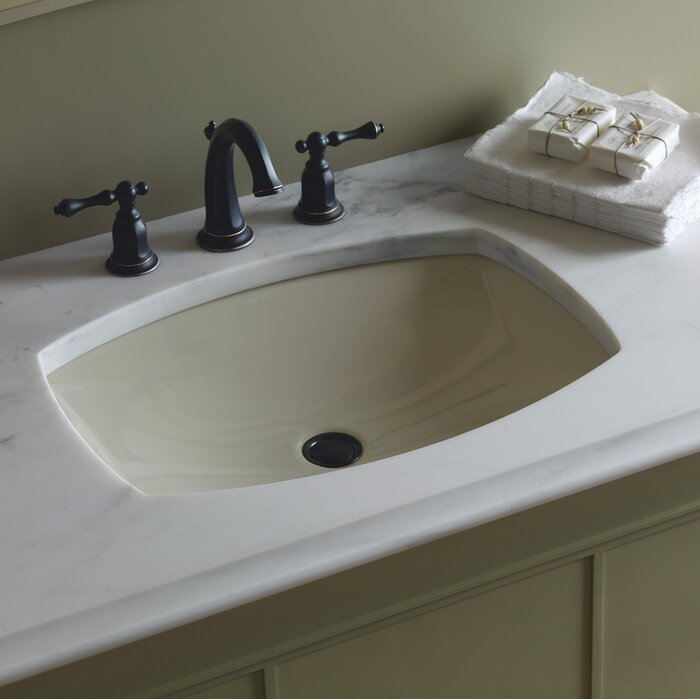 Kelston Ceramic Rectangular Undermount Bathroom Sink With Overflow
