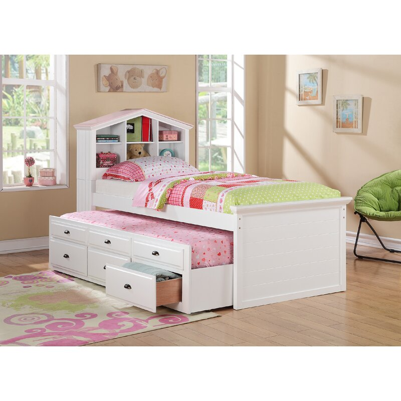 Harriet Bee Savage Twin Mates Captains Bed With Trundle Wayfair