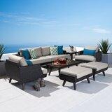 Winnie 7 Piece Rattan Sunbrella Sofa Seating Group with Cushions by Breakwater Bay