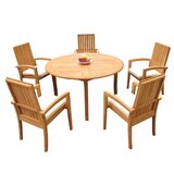 Wilkins 6 Piece Teak Dining Set