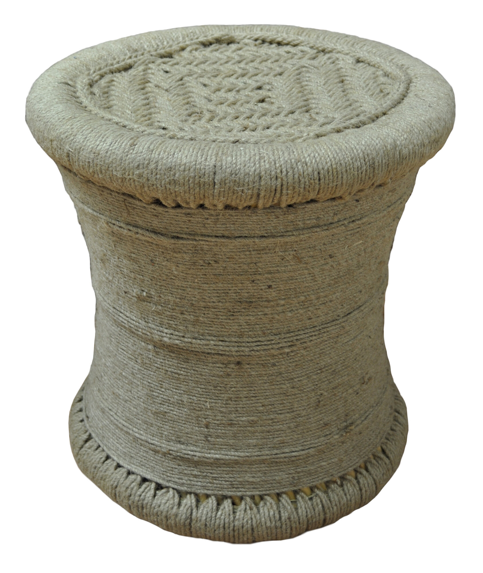 Bungalow Rose Ouindo All Wrapped Jute Accent Stool   Wayfair