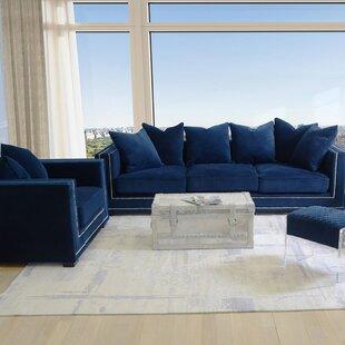 blue living room sets Velvet Living Room Sets You'll Love | Wayfair blue living room sets
