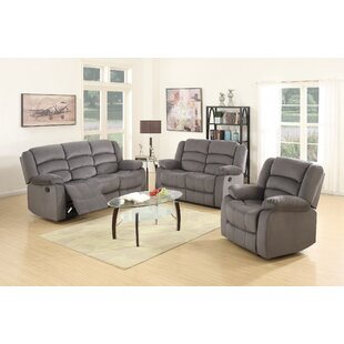 Updegraff Microfiber Fabric Upholstered 3 Piece Living Room Set  by Winston Porter