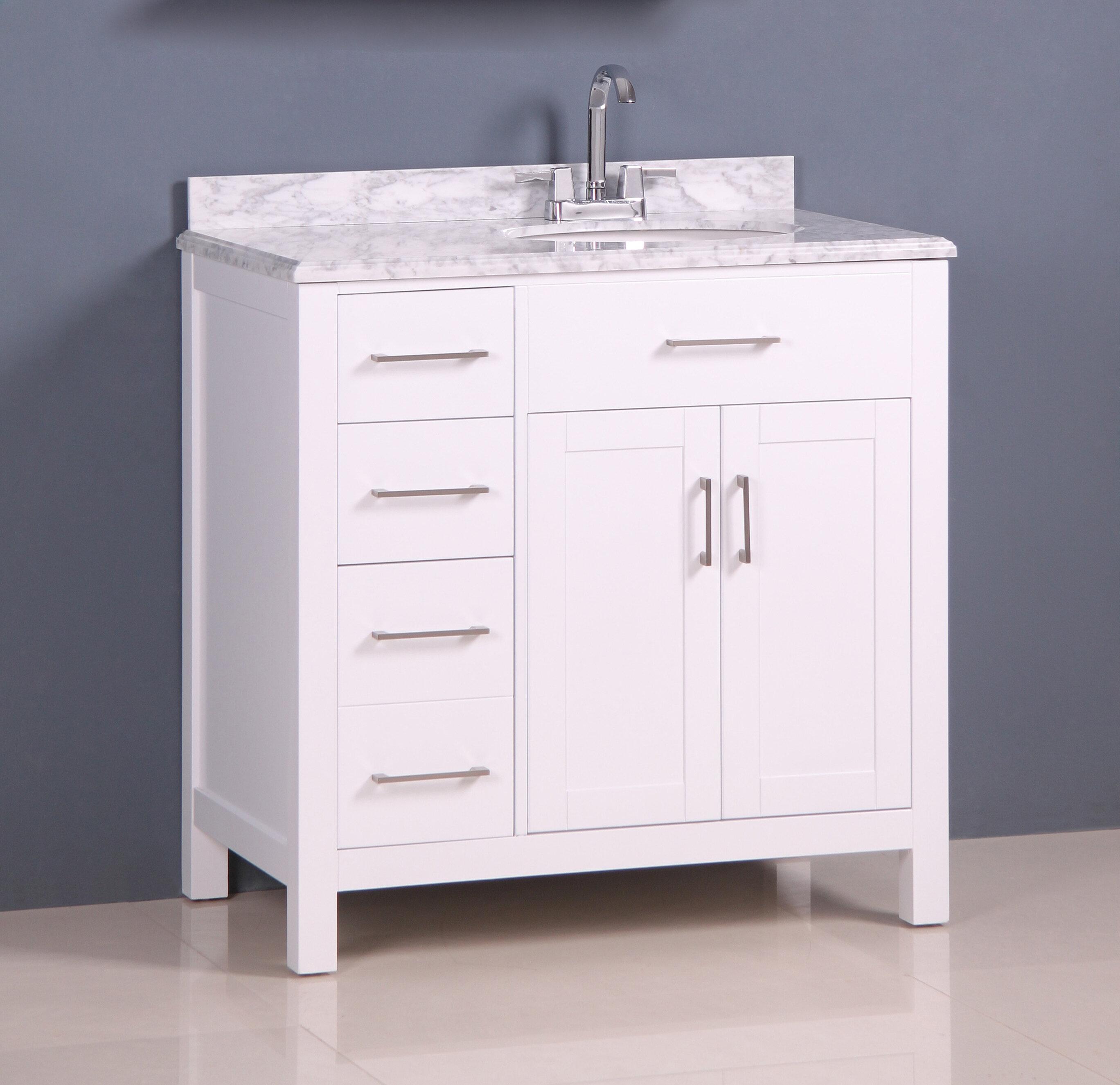in single vanity veneer wood amimage bathroom cherry transitional inch