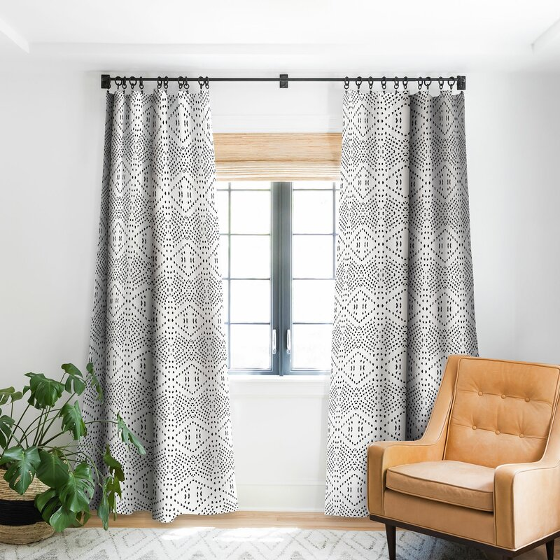 East Urban Home Holli Zollinger Boho Tile Geometric Room Darkening Rod Pocket Single Curtain Panel Wayfair