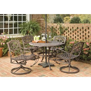 Six 5 Piece Outdoor Dining Set