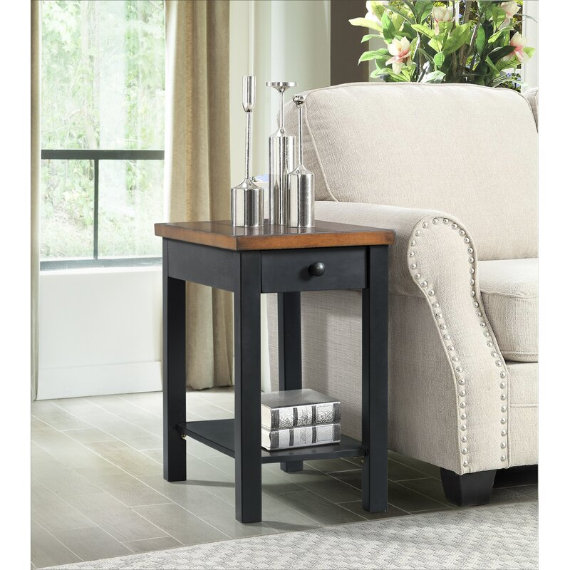 Charlton Home Niven End Table With Storage Reviews Wayfair