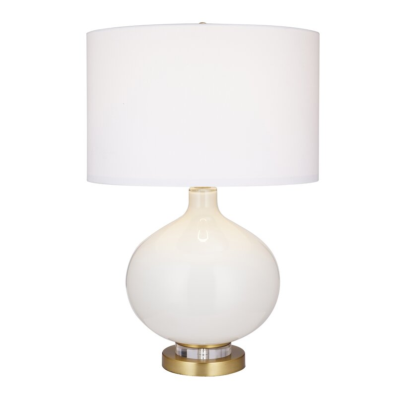 Everly Quinn Hammes 25 Gold Table Lamp Wayfair