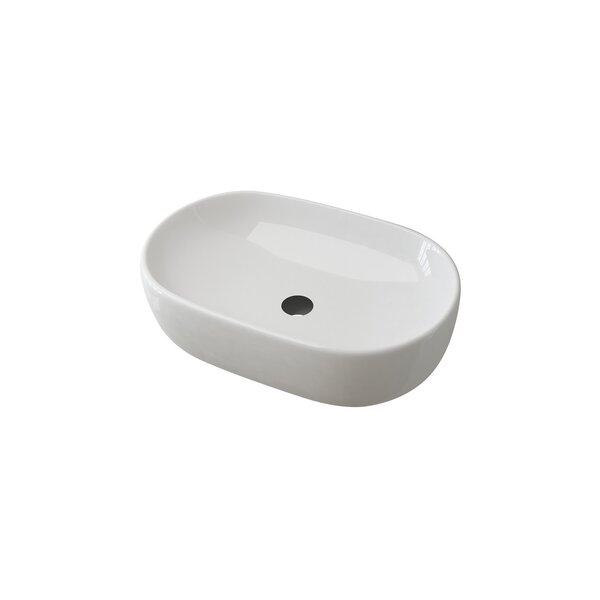 Latitude Run Walbrook Ceramic Oval Vessel Bathroom Sink With Faucet And Overflow Wayfair