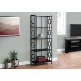 61.5'' H x 24.5'' W Metal Etagere Bookcase by Latitude Run®