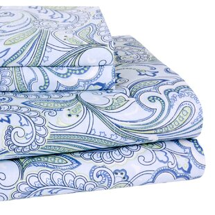 Lindsey Paisley 300 Thread-Count Cotton Sheet Set