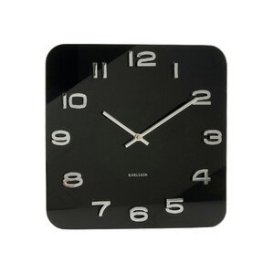 Vintage Square Glass Wall Clock