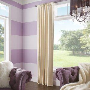 Dunstable Solid Yarn Dyed Dupioni Silk Rod Pocket Single Curtain Panel