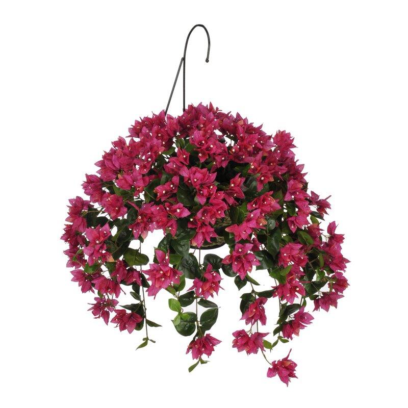 House Of Silk Flowers Artificial Bougainvillea Hanging Basket Wayfair
