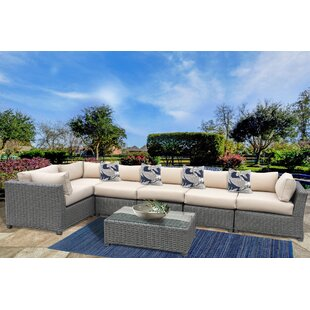 Dutil 7 Piece Sunbrella Sectional Set with Sunbrella Cushions