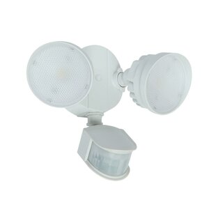 Where buy  Katzer 2-Light LED Outdoor Spotlight with Motion Sensor By Latitude Run