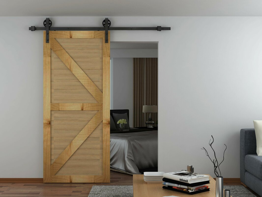 Custom Service Hardware Spoke Wheel Hook Strap Rolling Barn Door