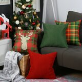 Longino Merry Christmas 4 Piece Throw Pillow Cover Set