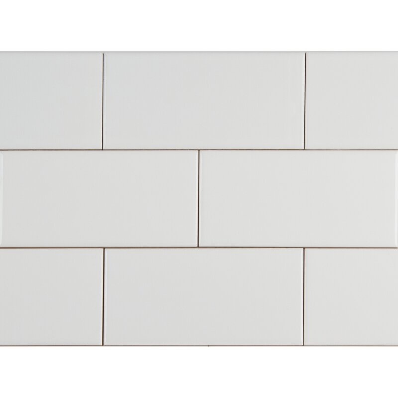 Msi Glossy 4 X 16 Ceramic Subway Tile In White Reviews Wayfair