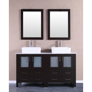 Arnette 59 Double Bathroom Vanity Set with Mirror by Bosconi