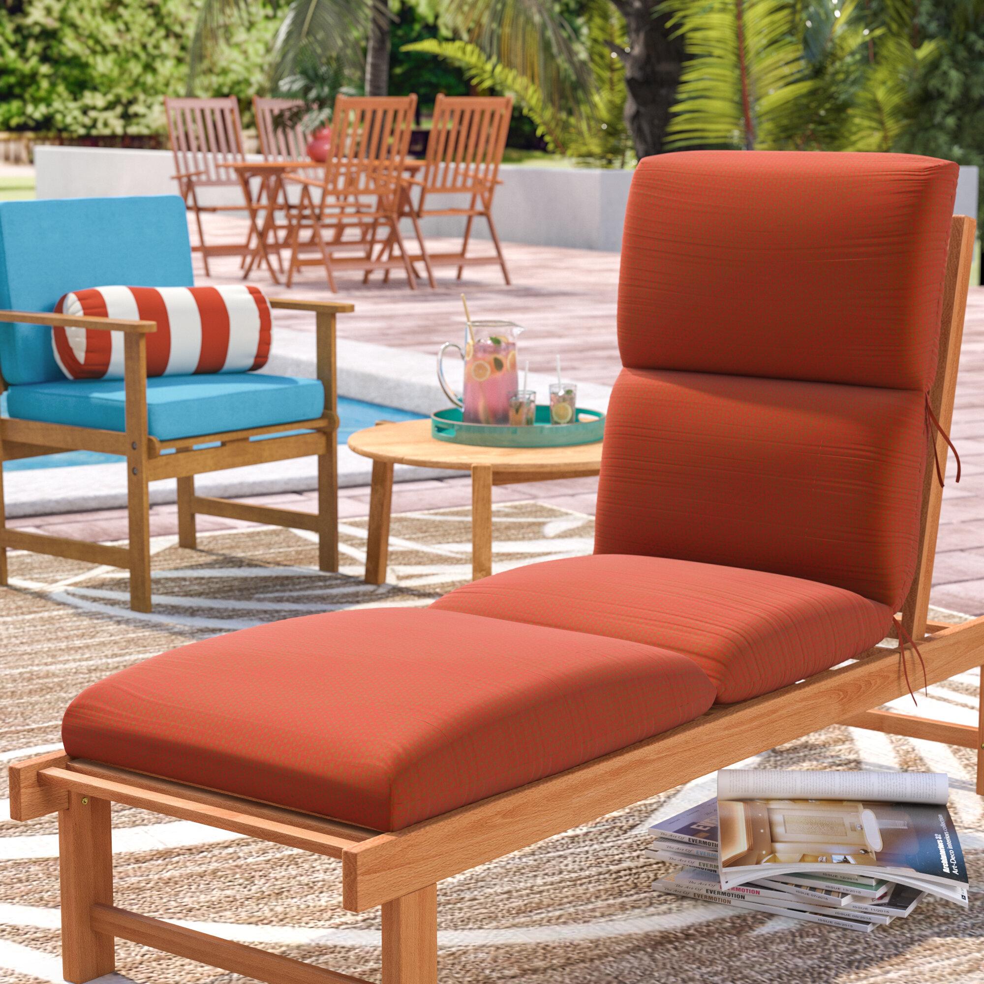 - Beachcrest Home Kellner Indoor/Outdoor Sunbrella Chaise Lounge