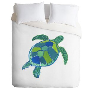 Sea Turtle By Laura Trevey Lightweight Duvet Cover
