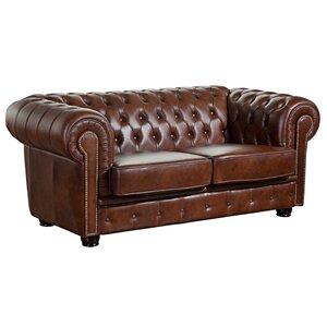 2-Sitzer Sofa Norwin aus Leder von Max Winzer